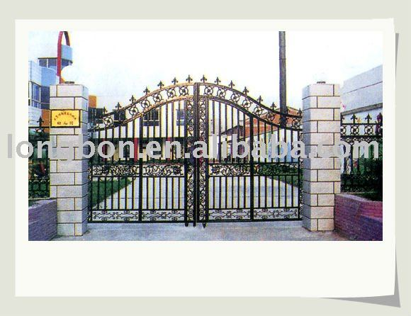 2015 newest modern hand forged iron driveway gates