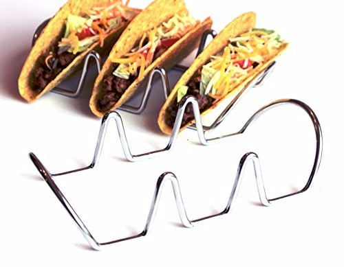 Premium Taco Holders, Restaurant Style Mexican Food Stainless Steel Rack