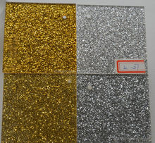 Gold advertising glitter acrylic sheets