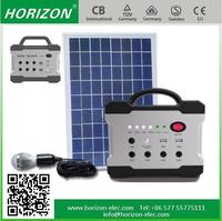 solar panel tracking system 10W/18V Home Application Portable Led Lighting solar kit,with FM radio Mp3 mobile phone charger