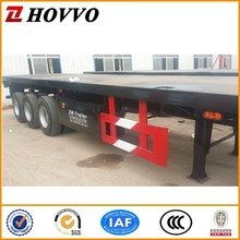 2015 Factory Price Tri-axle 60 Ton 40ft Container Flatbed Truck Trailer / Container Semi-trailer With Twist Lock