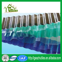 2016 new construction building material/plastic raw materials roofing sheet prices/corrugated polycarbonate sheet for greenhouse