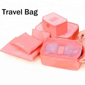 Waterproof Travel Luggage Organizer Packing Cubes Pouch Fashion Cubes Cloth Storage Set 3 Pouches Zipped Mesh Storage Bag Travel