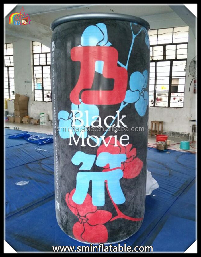 high quality giant display bottles , advertising can , inflatable bottle can for sale