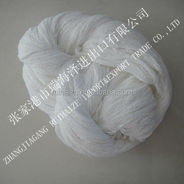 Cotton slub yarn raw white fancy yarn for knitting