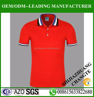 Accept small order Red polo t shirt custom polo shirt