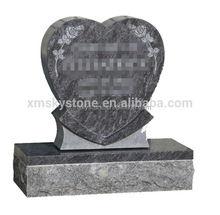 Cheap Unique Bahama Blue Granite Heart Shaped Morden Headstone