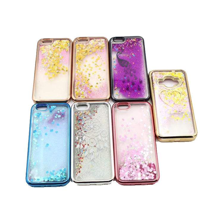 G5 Oem Color Print Custom Mobile Phone Liquid Case For Lg Glitter