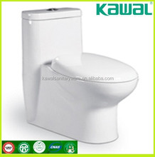 Two pieces floor mounted washdown p trap economic wc toilet