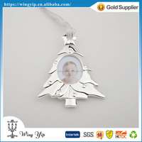 Custom made trendy Christmas Tree with picture Metal Christmax Gift for gift