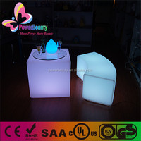 rechargeable rgb led lighting multi color glowing led cube bar table