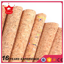 factory price natural leather cork fabric for making handbags