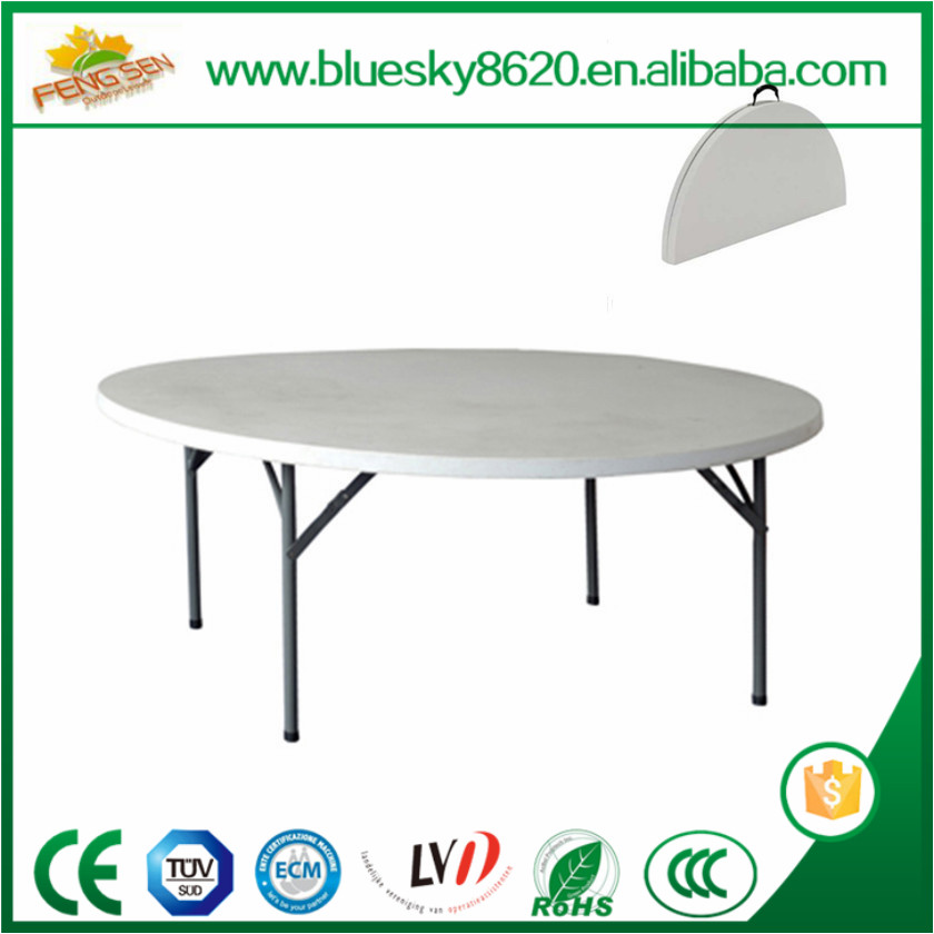 Folding Round Wooden Banquet dining Table