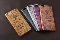 Embossed keep clam super slim 0.6mm factory ultra thin phone leather case for iphone 6/6s
