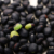 Black kidney bean with green kernel