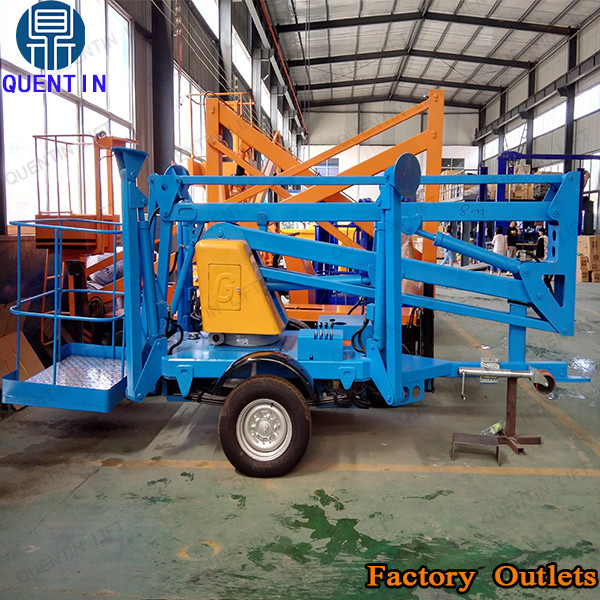 Articulated towable boom lift / high rise window cleaning equipment
