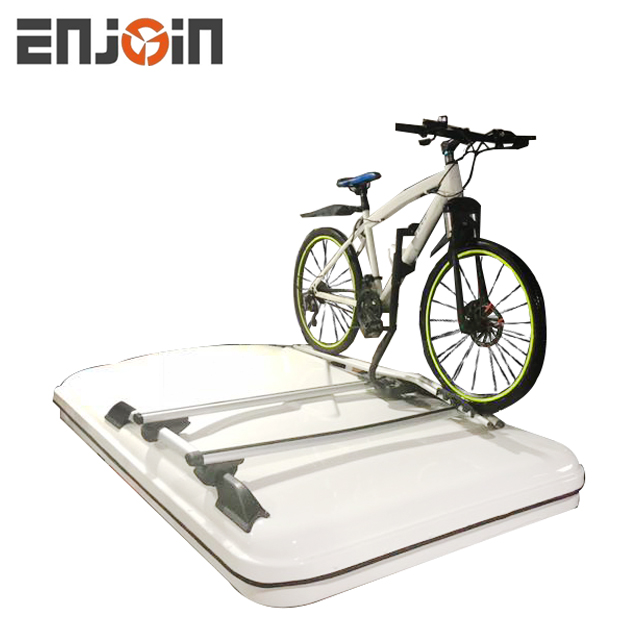 ENJOIN Outdoor hard shell Car side awning roof top <strong>tent</strong> 1-2 person with bicycle top farme