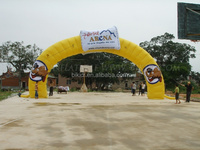 Custom logo advertising inflatable entrance start finish line inflatable arch K4029