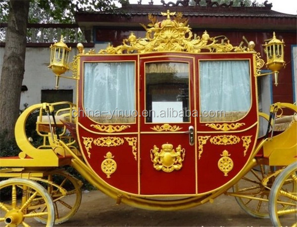 Yizhinuo Royal horse carriage for exhibition,film shooting royal horse drawn wagon