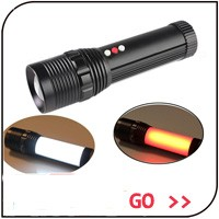 CE ROHS CREE XM-L2 LED 3.7V 18650 or AAA Battery Torch Zoom Led Rechargeable Flashlight