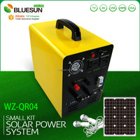Bluesun 12VDC 50W-100W solar power portable generator MP3/SD/USB/TV/AV/VGA/HDMI function solar panel kits