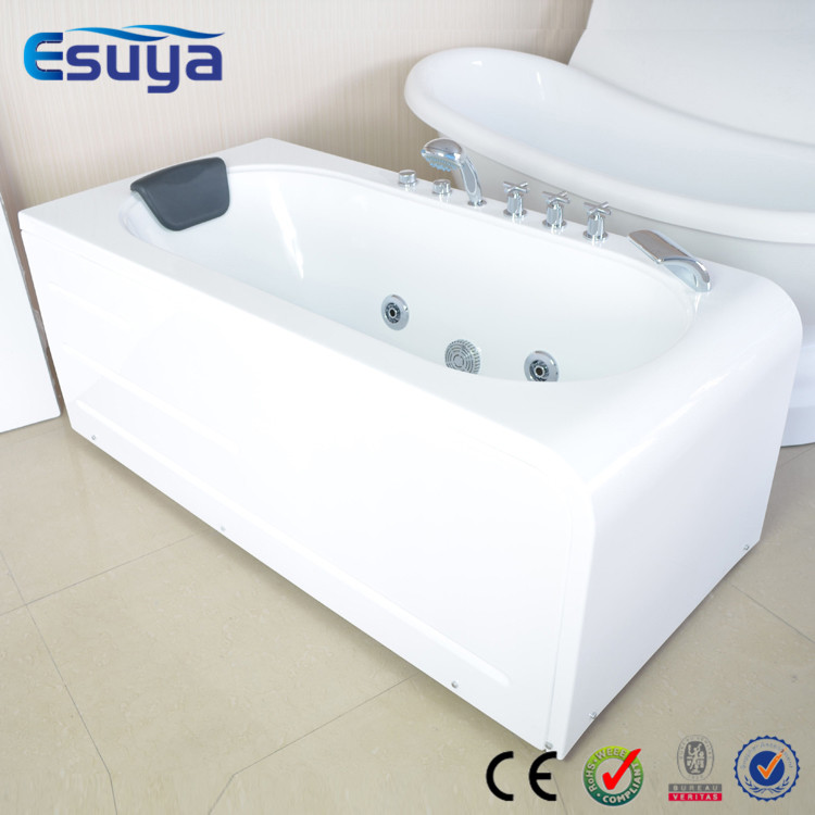 Freestanding moveable home use easy installation simple shower combo small jets whirlpool - Small whirlpool tub ...