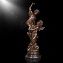 wholesale home decoration arts crafts baby bronze nude angel statue