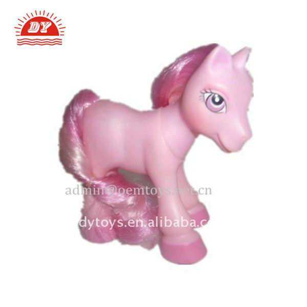 12cm small plastic vinyl horse toy with hair