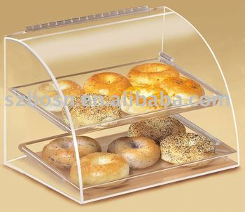 Acrylic Bakery Display, Perspex Bread Case, Plexiglass Cupcake Stand