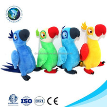 Fashion 4 various design parrot plush soft toy cute kids toy stuffed plush record parrot toy