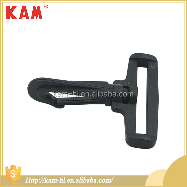 Top quality cheap china plastic buckle black spring loaded hook