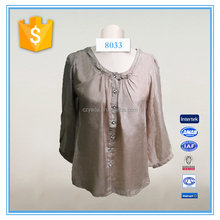 Women sample design for blouses maternity blouse casual clothing