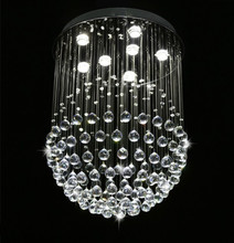 Guzhen discount K9 crystal chandelier clear led lighting lamp for hotel