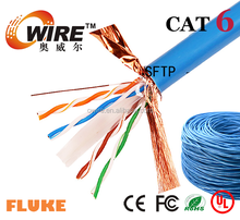 Top rated-100% Pure Copper outdoor water proof UTP/STP/FTP/SFTP Cat6 network Lan Cable 1000ft per box