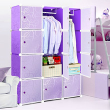 home decoration shelf plastic portable wardrobe