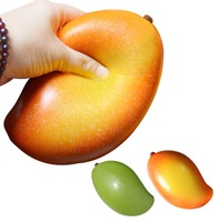 Artificial Squishy Mango Shape Cream food Scented Slow Rising Relieves Stress Anxiety Toy for Child Adult Anxiety Attention