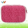 PU leather Fashion Pattern Cosmetic Bags With Handle