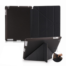 PU leather Multi folding Smart stand flip tablet case For iPad mini 2 3 4 Air 1 Pro 9.7 12.9