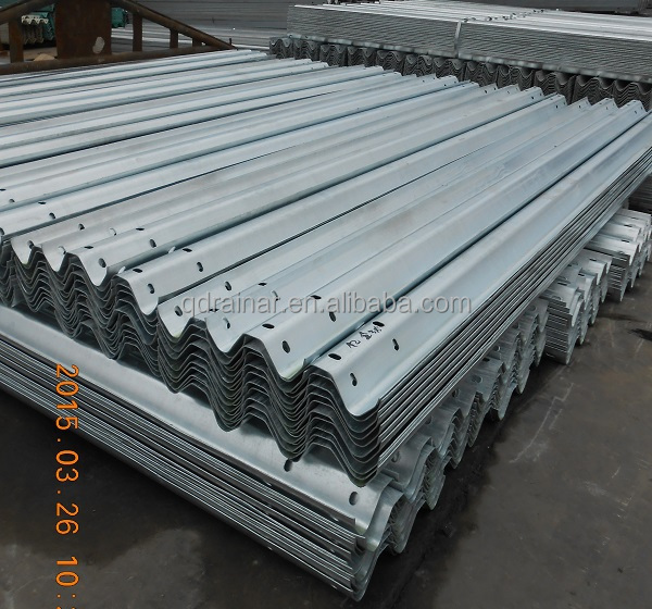 lower price whole sale z110um 650g 3mm thick 4320mm length highway road corrugated guard rail