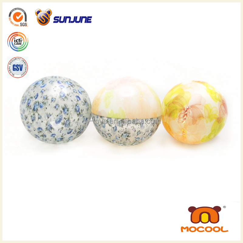 Transparent frog bouncing ball, customized bouncing water glitter ball