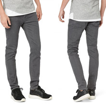 Hot sale OEM wholesale straight stretch jeans plain dyed slim fit high quality jeans for men