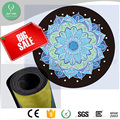 High quality New Microfiber non-toxic natural rubber round yoga mat