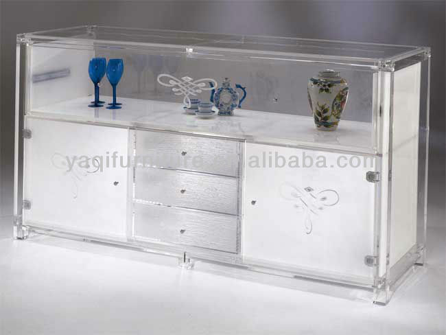 Acrylic TV Bench