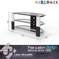 High quality universal modern metal and glass tv stand