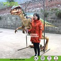 Camera in dinosaur body robotic flexible dinosaur costume