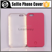 LED light up mobile phone cover for iphone 6 protective selfie phone case lights
