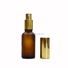 YM 30ml 1oz Wholesale Amber Glass Essential Oils Perfume Bottle with Gold Spray Pump in Dubai