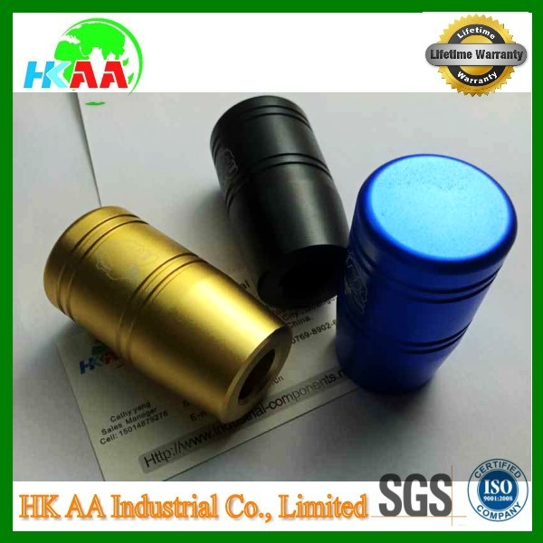 OEM factory supplier anodised high demand aluminum cnc machining knob parts