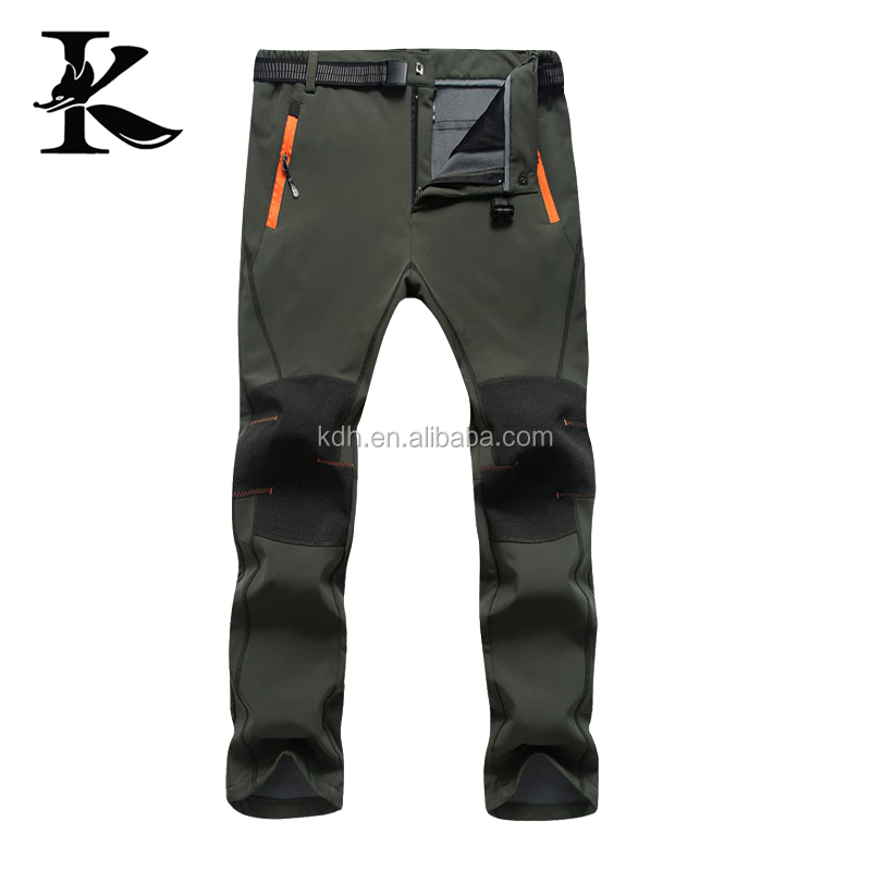 Mens Hiking Climbing Pants Outdoor Softshell Trousers
