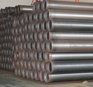 Higher filter rate wedge wire screen pipe for deep water well drilling pipe